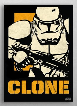 Star Wars Clone Trooper - Star Wars Icons Poster - Displate First Numbered Print