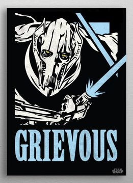 Star Wars Grievous - Star Wars Icons Poster - Displate First Numbered Print