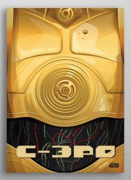 Star Wars C-3PO - Star Wars Minimalist - Displate First Numbered Print