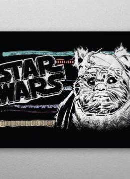 Star Wars Ewok - Star Wars Space Patterns - Displate First Numbered Print