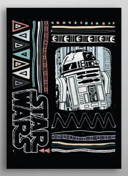 Star Wars R2-D2 Pattern - Star Wars Space Patterns - Displate First Numbered Print