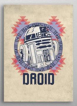 Star Wars R2-D2 - Star Wars Space Patterns - Displate First Numbered Print