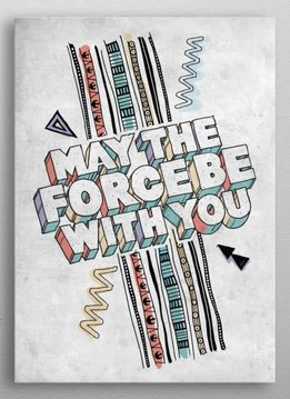 Star Wars The Force Pattern - Star Wars Space Patterns - Displate First Numbered Print