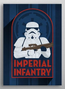 Star Wars Infantry - Imperial Badge - Displate First Numbered Print