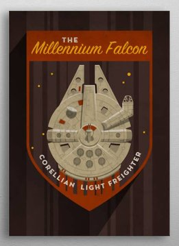 Star Wars Millennium Falcon - Imperial Badge - Displate First Numbered Print Pixie