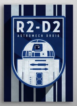 Star Wars R2 - D2 Droid - Imperial Badge - Displate First Numbered Print