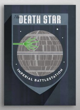 Star Wars Death Star - Imperial Badge - Displate First Numbered Print