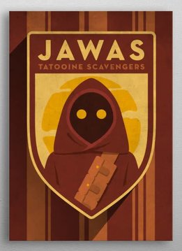 Star Wars Jawas - Imperial Badge - Displate First Numbered Print