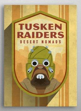 Star Wars Tusken Raiders Badge - Displate First Numbered Print Pixie