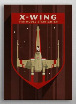 Star Wars X-Wing - Imperial  Badge - Displate First Numbered Print Pixie