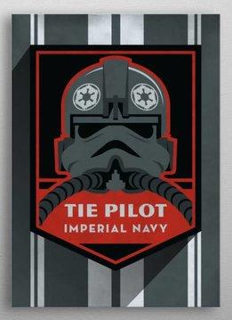 Star Wars Tie Pilot - Imperial  Badge - Displate First Numbered Print