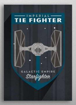 Star Wars Tie Fighter Badge - Displate First Numbered Print Pixie
