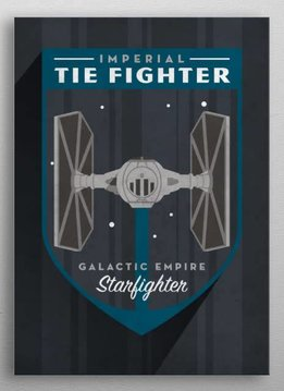 Star Wars Tie Fighter - Imperial  Badge - Displate First Numbered Print Pixie