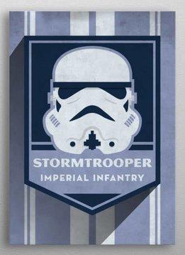Star Wars Stormtrooper Badge - Displate First Numbered Print Pixie