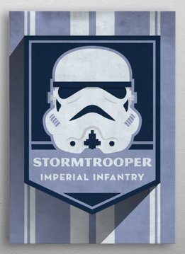 Star Wars Stormtrooper - Imperial  Badge - Displate First Numbered Print