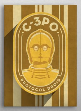 Star Wars C3PO - Imperial Badge - Displate First Numbered Print