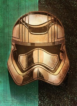 Star Wars Masked Trooper Golden - Displate First Numbered Print