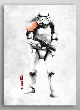 Star Wars Stormtrooper - Star Wars Rogues Artbook - Displate First Numbered Print