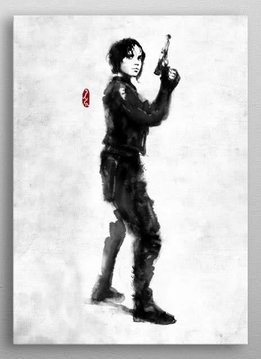 Star Wars Jyn Erso - Star Wars Rogues Artbook - Displate First Numbered Print