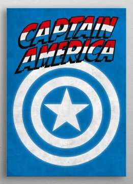Marvel Captain America - Marvel Emblems - Displate First Numbered Print