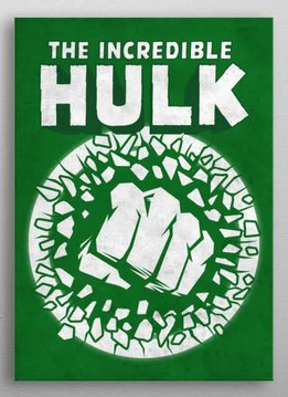 Marvel The Incredible Hulk - Marvel Emblems - Displate First Numbered Print