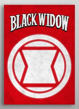 Marvel Black Widow - Marvel Emblems - Displate First Numbered Print