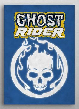 Marvel Ghost Rider - Marvel Emblems - Displate First Numbered Print Pixie
