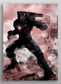 Marvel Warmachine - Marvel Dark Edition - Displate First Numbered Print