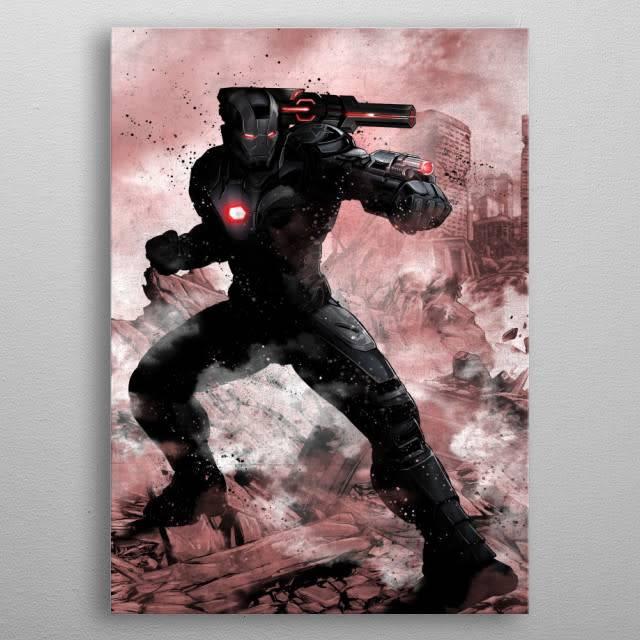 Marvel Warmachine - Marvel Dark Edition - Displate First Numbered Print