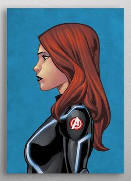 Marvel Black Widow - Marvel Profiles - Displate First Numbered Print