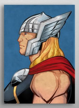 Marvel Thor - Marvel Profiles - Displate First Numbered Print