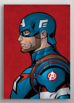 Marvel Captain America - Marvel Profiles - Displate First Numbered Print