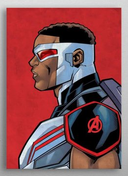Marvel Falcon - Marvel Profiles - Displate First Numbered Print
