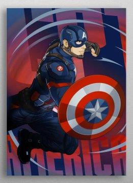 Marvel Captain America - Marvel Civil War Showdown - Displate First Numbered Print Pixie