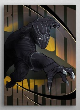 Marvel Black Panther - Marvel Civil War Showdown - Displate First Numbered Print Pixie