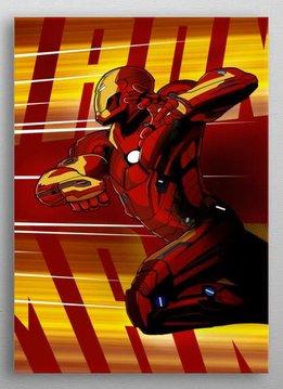 Marvel Iron Man - Marvel Civil War Showdown - Displate First Numbered Print Pixie