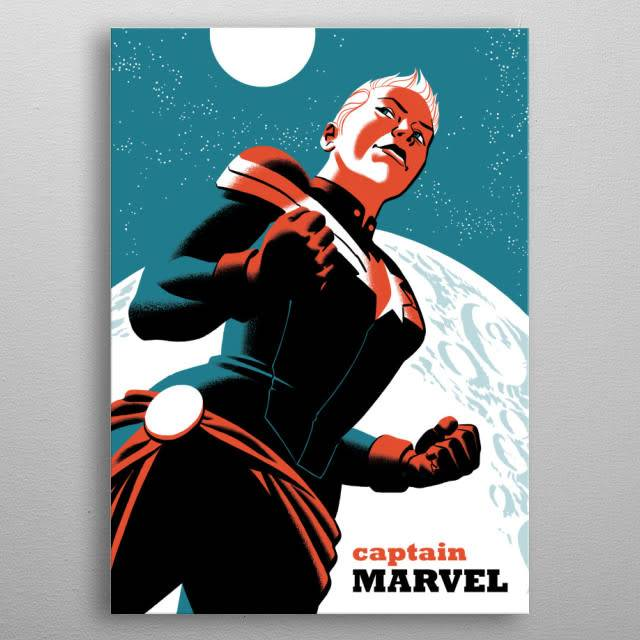 Marvel Captain Marvel - Marvel NOW - Displate First Numbered Print