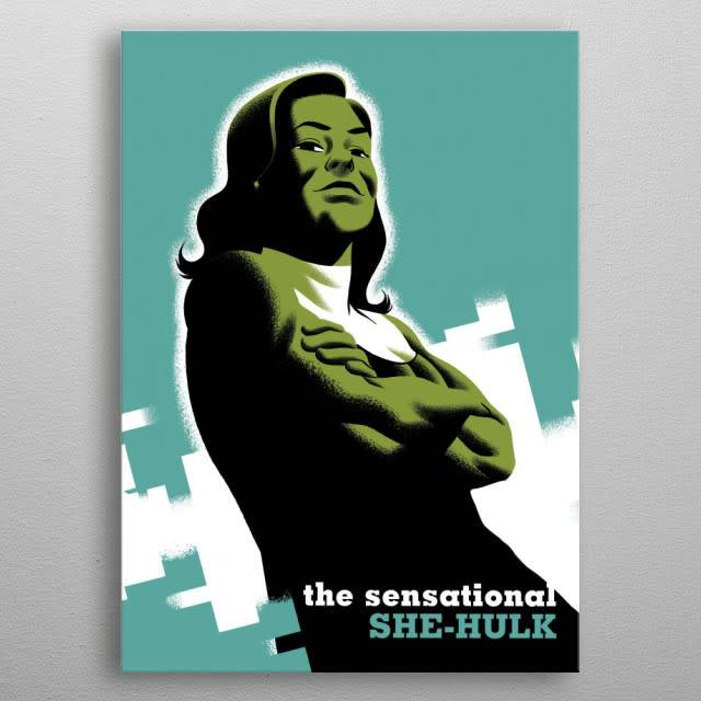 Marvel She-Hulk - Marvel NOW - Displate First Numbered Print