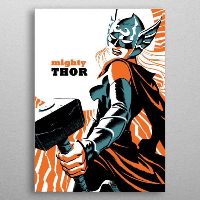 Marvel Thor Jane Foster - Marvel NOW - Displate First Numbered Print