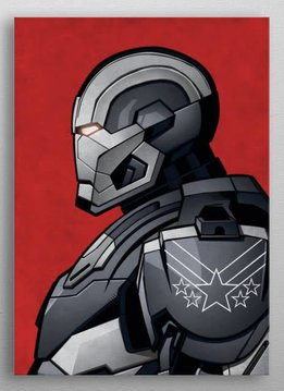 Marvel War Machine - Marvel Profiles - Displate First Numbered Print