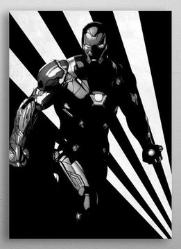 Marvel Iron Man - Marvel Civil War Black and White - Displate First Numbered Print