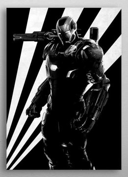 Marvel War Machine - Marvel Civil War Black and White - Displate First Numbered Print