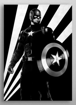 Marvel Captain America - Marvel Civil War Black and White - Displate First Numbered Print