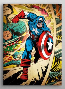 Marvel Captain America - Marvel Silver Age - Displate First Numbered Print pixie