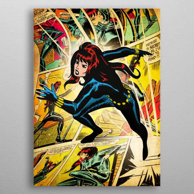 Marvel Black Widow  - Marvel Silver Age - Displate First Numbered Print pixie