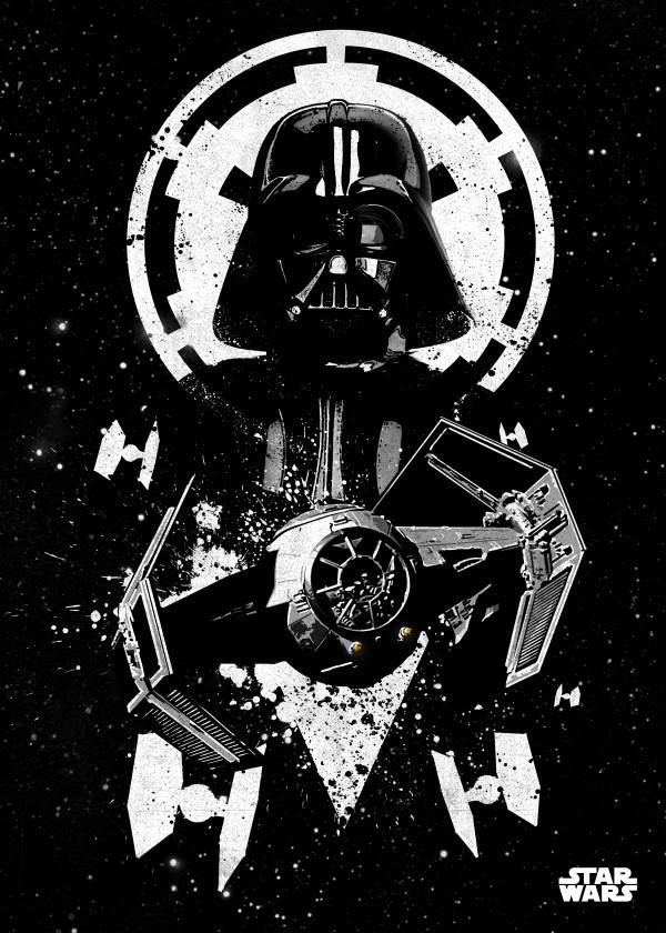 Star Wars Tie Advanced - Star Wars Pilots Displate
