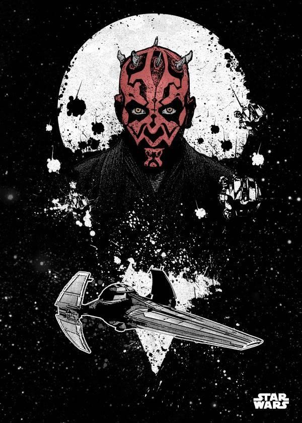Star Wars Darth Maul - Star Wars Pilots Displate