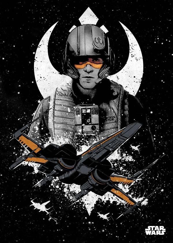 Star Wars Poe Dameron - Star Wars Pilots Displate