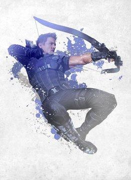 Marvel Hawkeye - Marvel Civil War Red White & Blue Displate