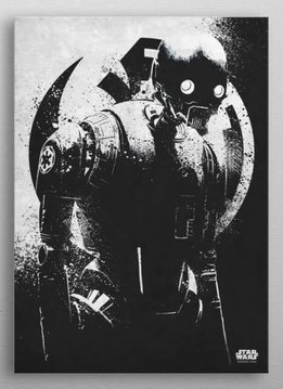 Star Wars K-2SO - Rogue One Gray Morality - Displate Displate